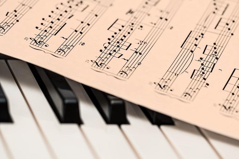 пианино, ноты, пиксибэй, 800 1812
